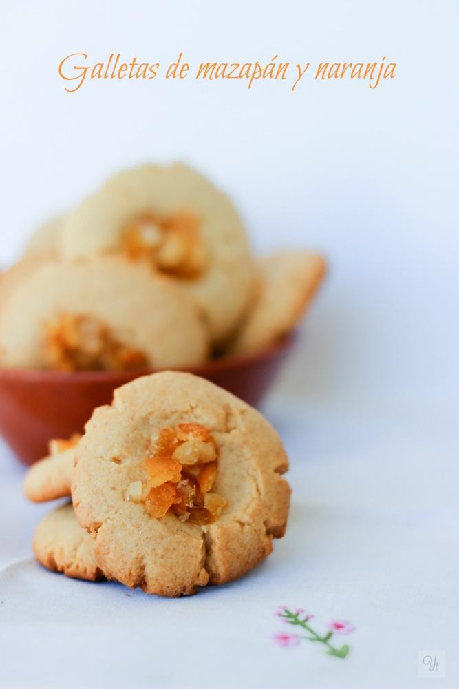 Galletas de mazapán y naranja