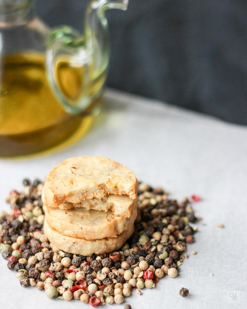 Galletas de queso roquefort y nueces