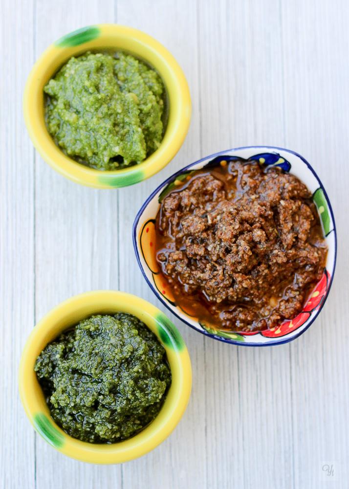 Pesto triple
