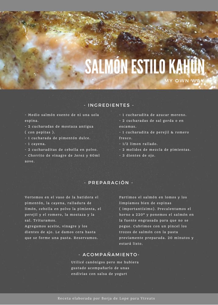 salmón estilo Kahún