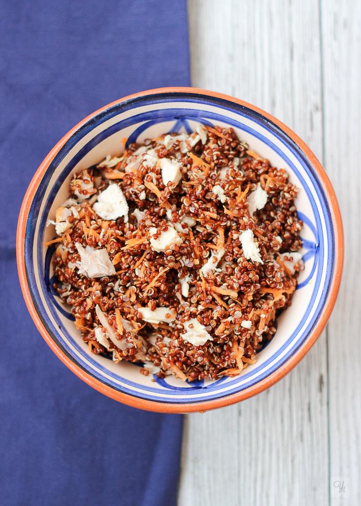 Quinoa roja y pollo1