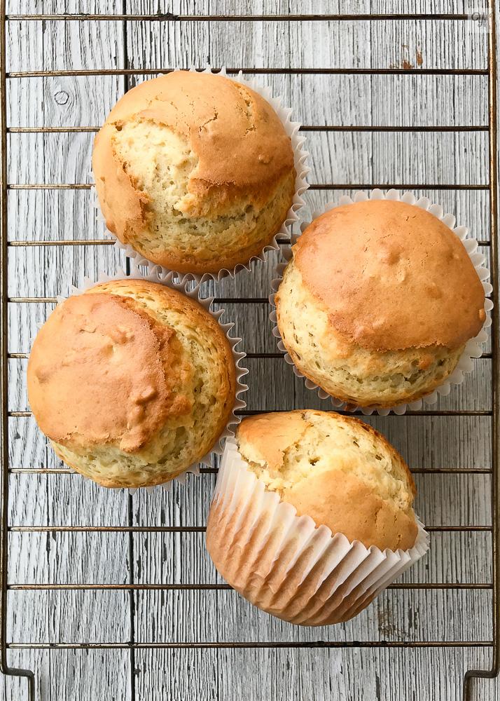 Muffins de yogur y avena