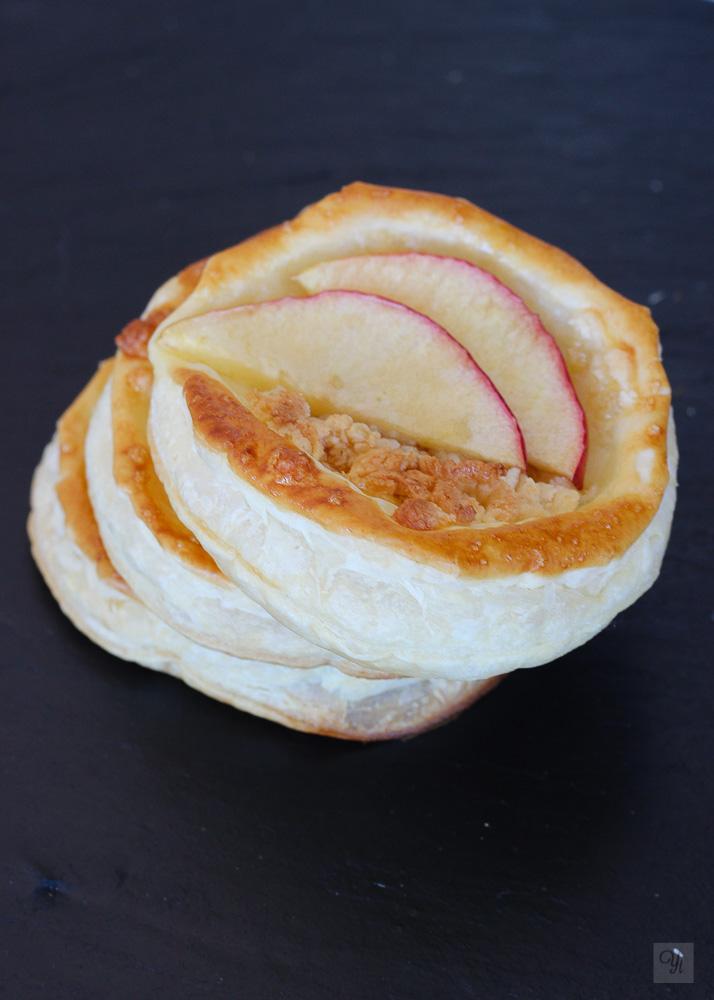 Tartaletas mazapán manzana