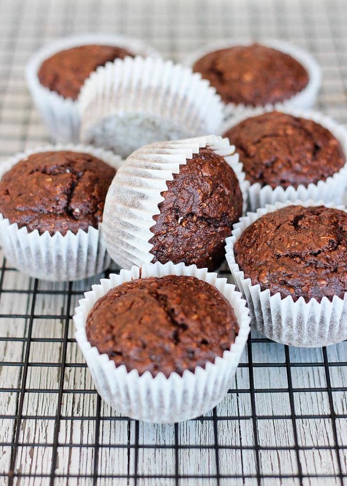 Muffins de chocolate y mantequilla de cacahuete