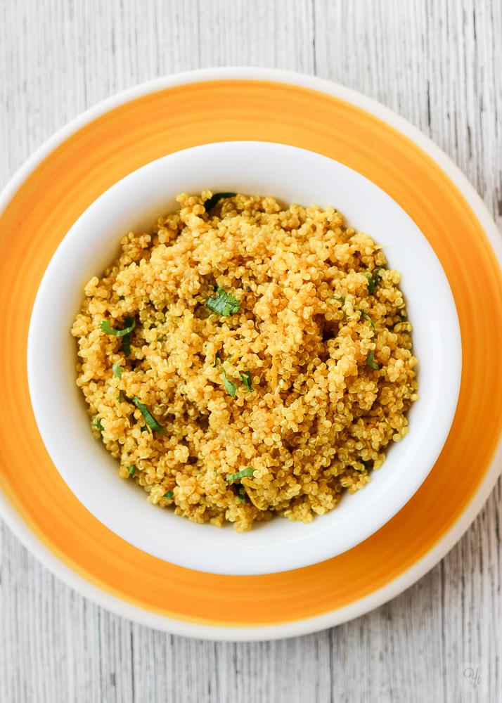quinoa cúrcuma limón
