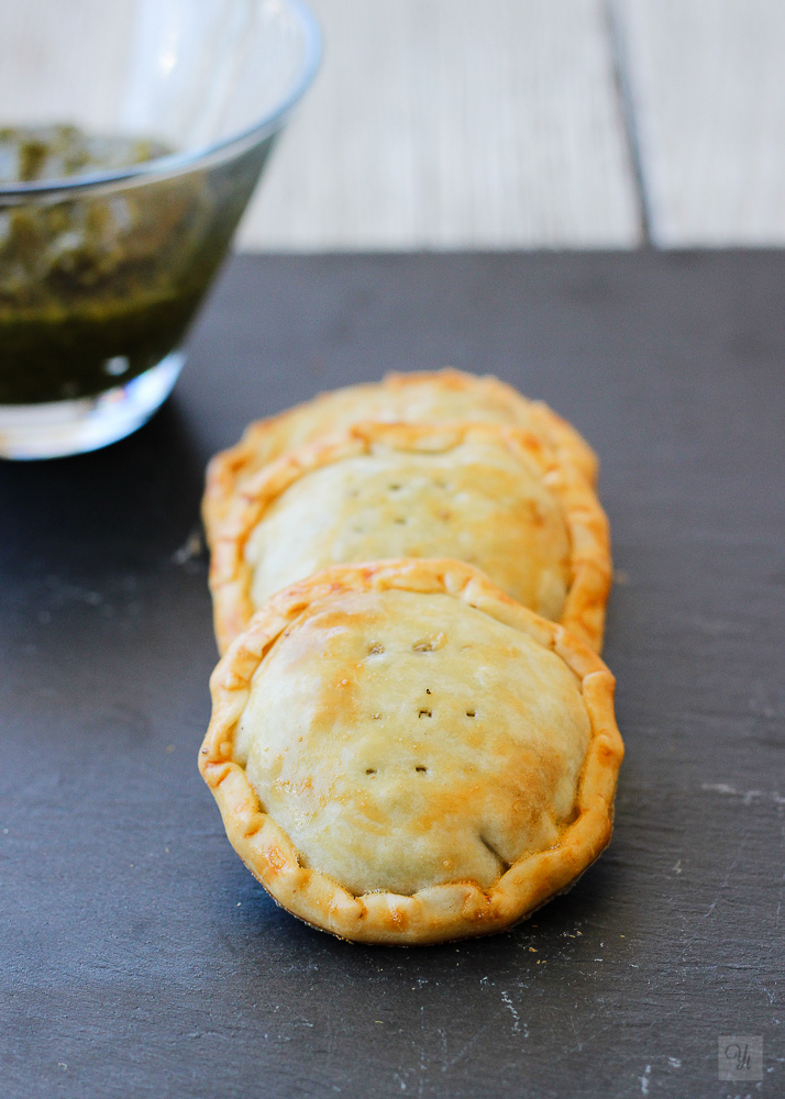 empanadillas lentejas y pesto