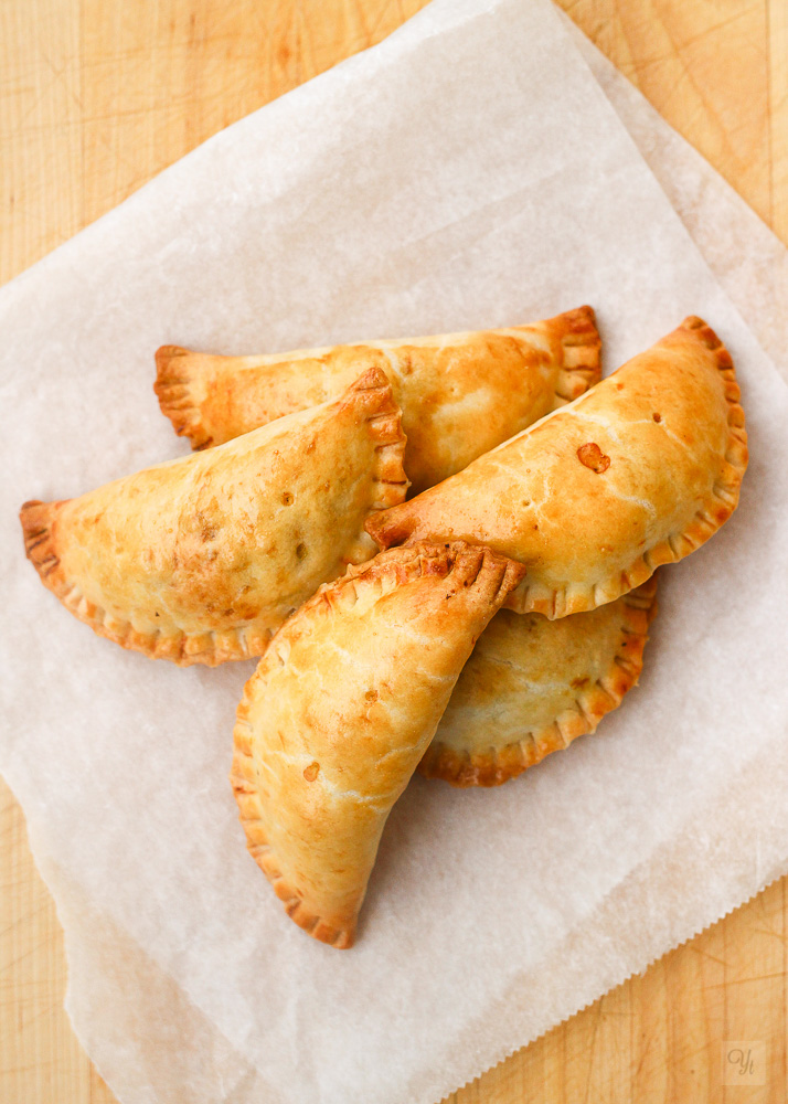 Empanadillas judias negras calabaza