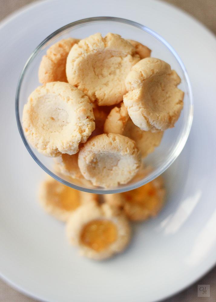 Thumbprints saladas con mermelada de naranja